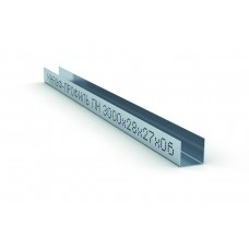 Профиль направляющий ПН 27х28х0.6мм L=3м Кнауф