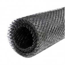 ЦПВС Штукатурная  Сетка 40х40х0,8мм черная 1х8м